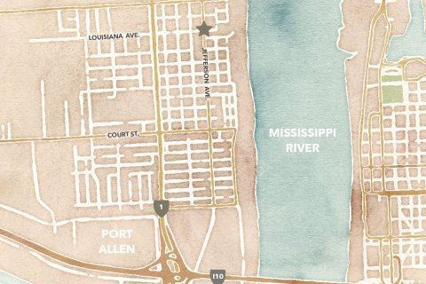 Map to the Museum in West Baton Rouge